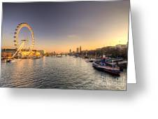 Millenium Wheel Dusk  Greeting Card