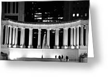 Millennium Monument And Fountain Chicago Greeting Card