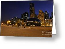 Millennium Park At Night Greeting Card