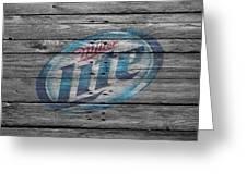 Miller Lite Greeting Card