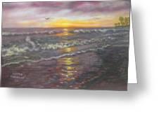 Miller Ocean Sunset Greeting Card