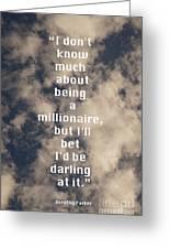 Millionaire Greeting Card