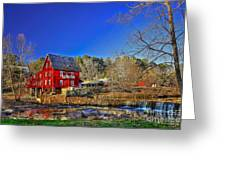 Historic Millmore Mill Shoulder Bone Creek Greeting Card