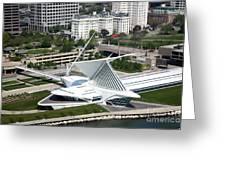 Milwaukee Art Museum Aerial Greeting Card