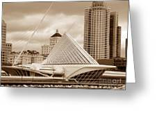 Milwaukee Art Museum In Winter Greeting Card
