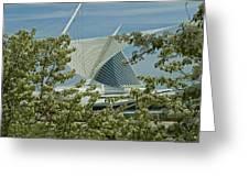 Milwaukee Art Museum Through Flowered Trees Greeting Card