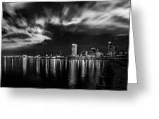 Milwaukee At Night Greeting Card