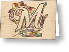 Milwaukee Brewers Poster Art Greeting Card