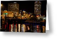 Milwaukee River And Downtown Skyline Greeting Card