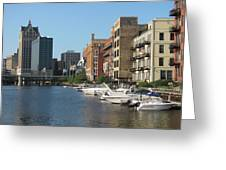 Milwaukee River Architecture 2 Greeting Card