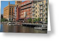 Milwaukee River Architecture 4 Greeting Card
