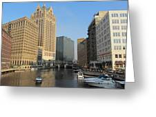 Milwaukee River Theater District 2 Greeting Card