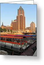 Milwaukee River Theater District 5 Greeting Card