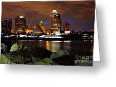 Milwaukee Skyline At Dusk Greeting Card
