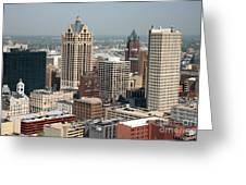 Milwaukee Wisconsin Skyline Aerial Greeting Card