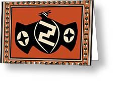 Mimbres Tribal Bat Spirit Greeting Card
