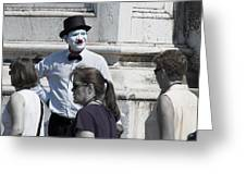 Mime In Venice Greeting Card