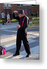 Mime Performer On The Street Greeting Card