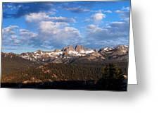 Minarets Of California Greeting Card