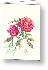 Minature Red Rose Greeting Card