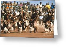 Mine Dancers South Africa Greeting Card