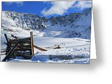 Mine Relics In The Snow Greeting Card