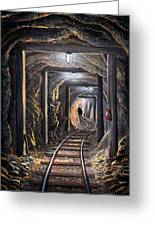 Mine Shaft Mural Greeting Card
