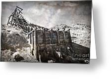 Mine Structure In Silver City Greeting Card