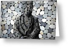 Mineral Buddha Greeting Card