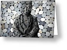 Mineral Buddha Greeting Card