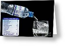 Mineral Water And Its Mineral Content Greeting Card