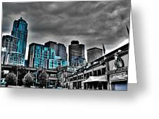 Miner's Landing On Pier 57 - Seattle Washington Greeting Card