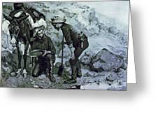 Miners Prospecting Greeting Card