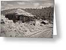 Miner's Shack - Comet Ghost Mine - Montana Greeting Card