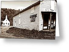Mingo Post Office And Foxhill Farms General Store Greeting Card