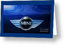 Mini Blue Greeting Card