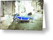 Mini Car Greeting Card by Tom Gowanlock