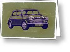 Mini Cooper - Car Art Sketch Poster Greeting Card