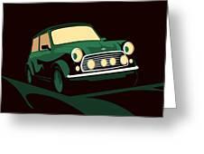 Mini Cooper Green Greeting Card