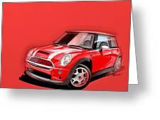 Mini Cooper S Red Greeting Card