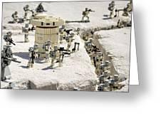 Mini Hoth Battle Greeting Card by Ricky Barnard