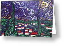 Mini Starry Night Greeting Card