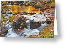 Mini Waterfall In The Porkies Greeting Card