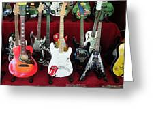 Miniature Guitars Szentendre Hungary Greeting Card
