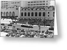 Miniature La City Hall Parade Greeting Card