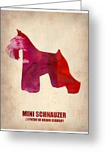 Miniature Schnauzer Poster Greeting Card