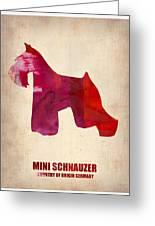 Miniature Schnauzer Poster Greeting Card by Naxart Studio