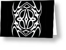 Minimalism Black White Ornament Art No.289. Greeting Card