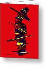 Minimalist 2 Red Greeting Card