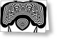Minimalist Art Black White Abstract No.331. Greeting Card